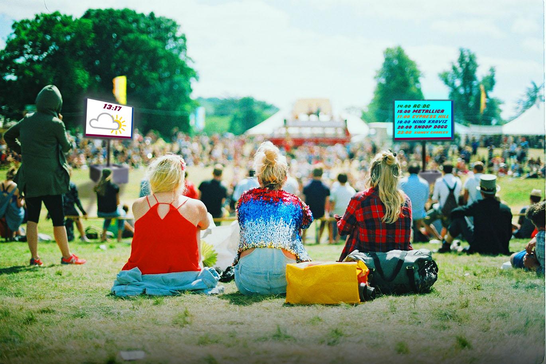 Ledschermen op festivals of evenementen van Maxled.