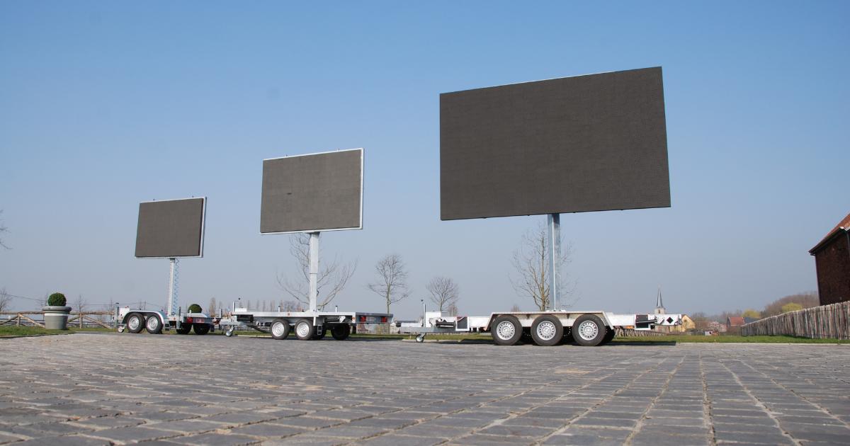 mobiel ledscherm trailer aanhangwagen
